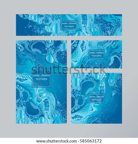 Set water business card template gift stock vector royalty free set of water business card template or gift cards texture of marble bubbles splash abstract colourmoves