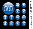 Set of water design elements. Water icon. - stock