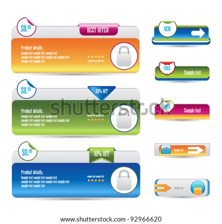 set of web banners - stock vector