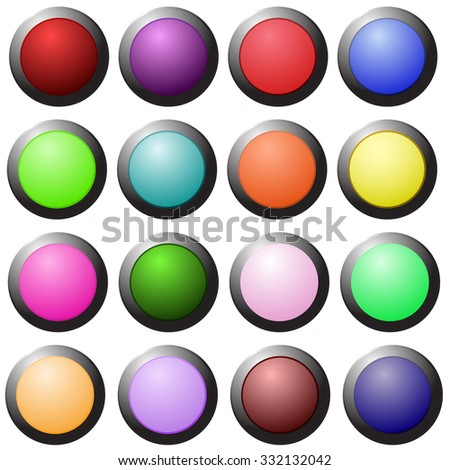 Set of web buttons