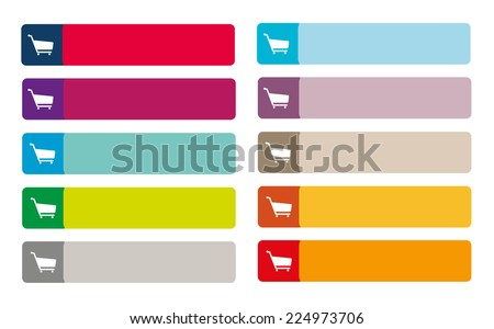 Set of web buttons for Add to Cart - stock vector