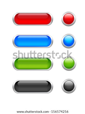 Set of web buttons for website or app.