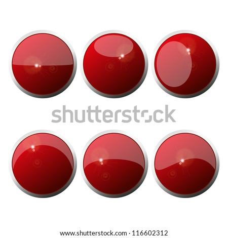 Set Of  Web Color Round Buttons. Vector illustration. Eps10. - stock vector