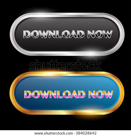 Set of web download icon design element. - stock vector