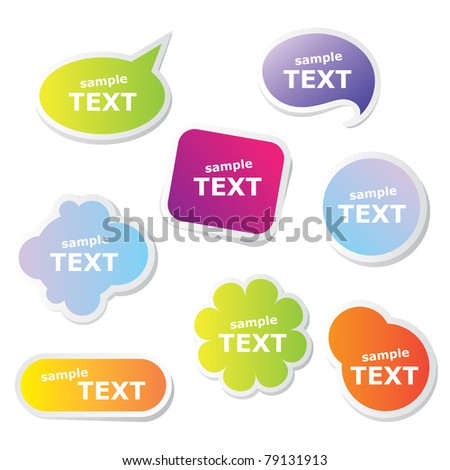 Set of web frameworks for the text. Vector. - stock vector