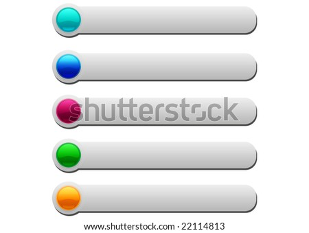 Set of web glossy buttons - stock vector
