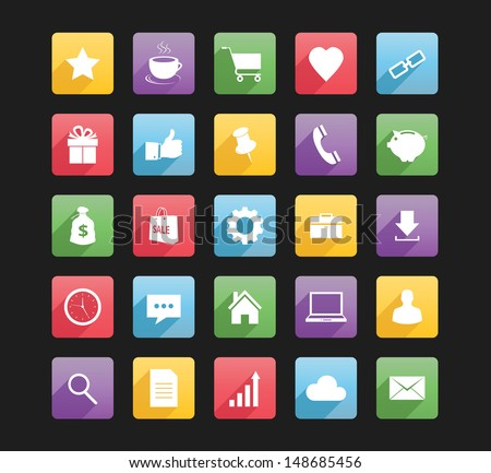 Set of Web Icons 1 - stock vector