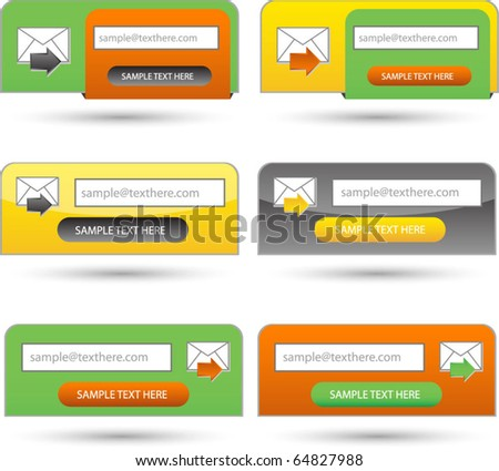 set of web or subscription,downloading forms - stock vector