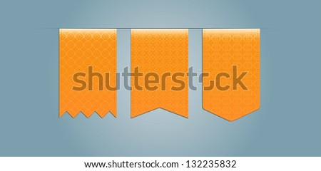 Set of web ribbons  with pattern - stock vector