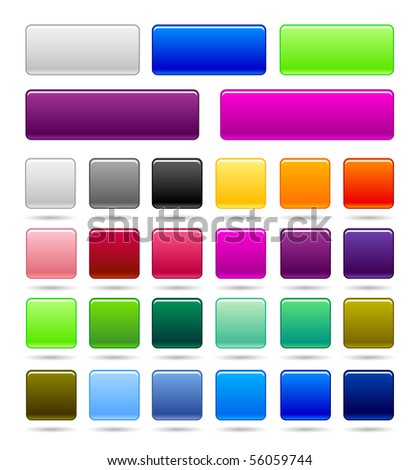 set of web square button - stock vector
