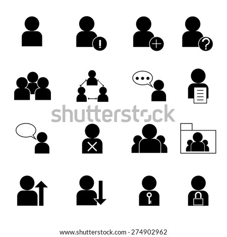 set of web user icon, business person,human resource management