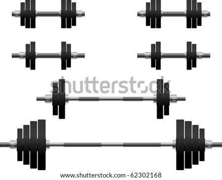 set of weights. second variant. vector illustration - stock vector