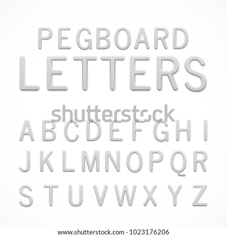 Pegboard stock images royalty free images vectors for Large pegboard letters