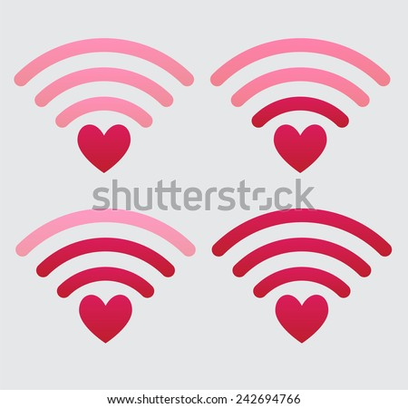 Set of wifi icons - stock vector