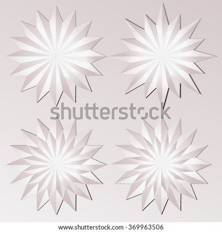 Set of wind rose vector icon. Paper - origami concept. Wind rose Vector. Wind rose JPEG. Wind rose Object. Wind rose Picture. Wind rose Image. Wind rose Graphic.Wind rose JPG. Wind rose EPS - stock vector