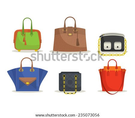 Set of woman's bags - stock vector