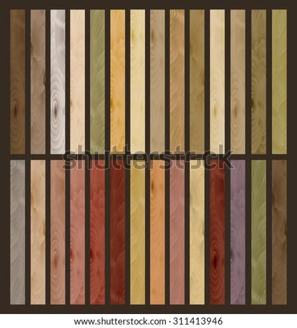 Set of wood planks. Vector illustration - stock vector