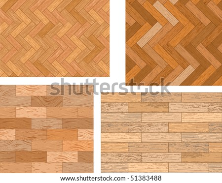 Set of wooden textures - stock vector