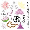 Set of yoga icons - vector illustration - stock vector