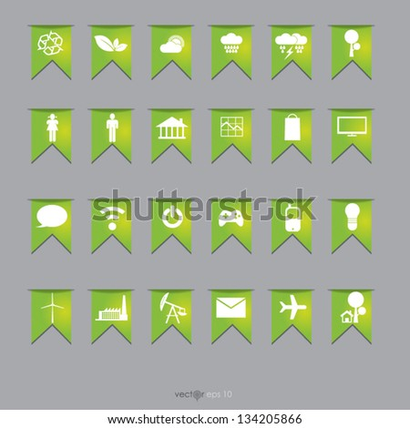 Set on flag vector format, for your design - stock vector