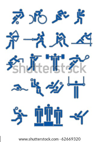 Set on sports subject - stock vector