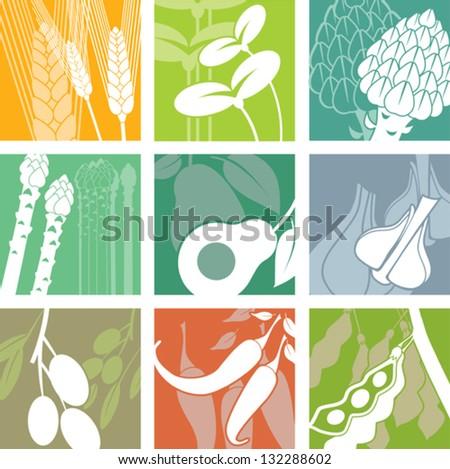 Set organic icons. - stock vector