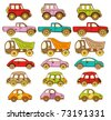 Set ot baby icons with cars - stock vector