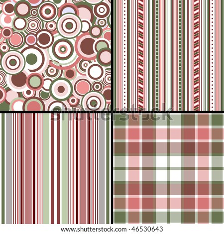 Set pastel seamless patterns (vector, EPS 10) - stock vector