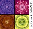 set pattern arabesque background - stock vector