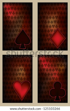 Set Poker cards in vintage style , vector illustration
