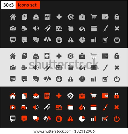 Set popular icons on the web - stock vector