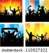 Set posters for sports championships and music concerts. - stock vector
