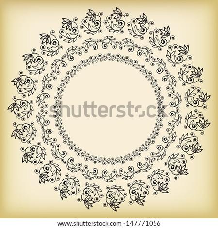 Set retro frames. Vector illustration. - stock vector