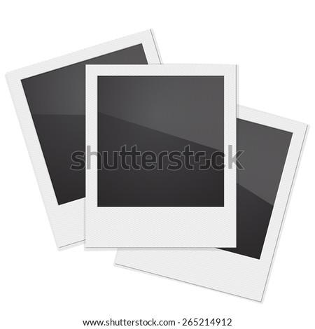 Set Retro Photo Frame Polaroid  On White Background. Vector illustration - stock vector