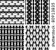 Set seamless decorative elegant pattern, vector - stock vector