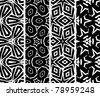 Set seamless geometric pattern, vector - stock photo