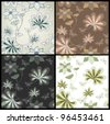Set seamless vector floral pattern - stock vector