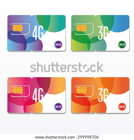 Sim Card Carrier Template Stock Images, Royalty-Free Images