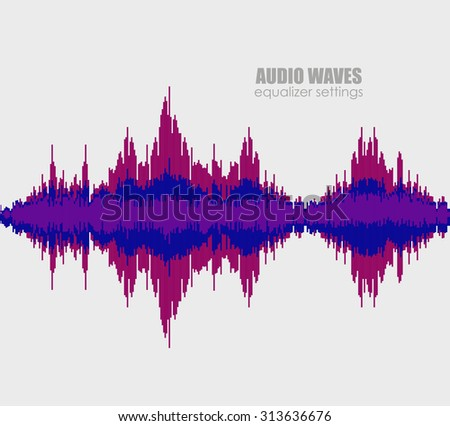 Set sound waves . Audio equalizer technology, pulse musical. Cover for the album or music track. Vector illustration eps10 - stock vector