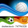 Set sport background - stock vector