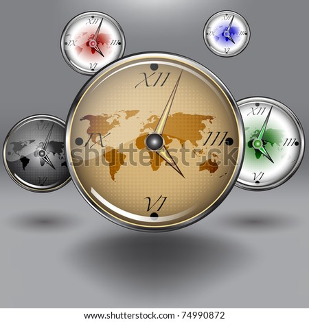 Set vector clocks with image of earth