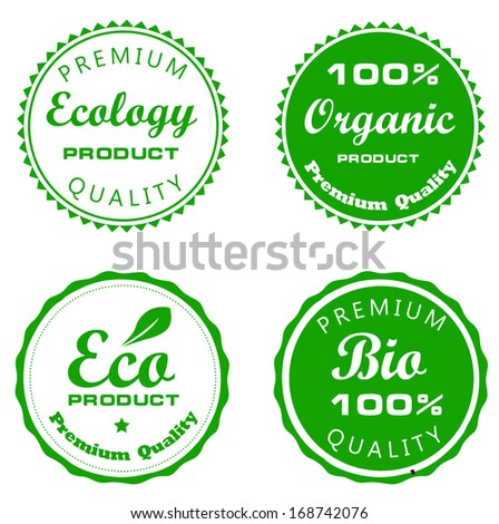 set vector labels of ecology and environment