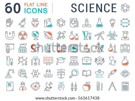 Set Vector Line Icons Sign Symbols Stock Vector 563617438 Shutterstock