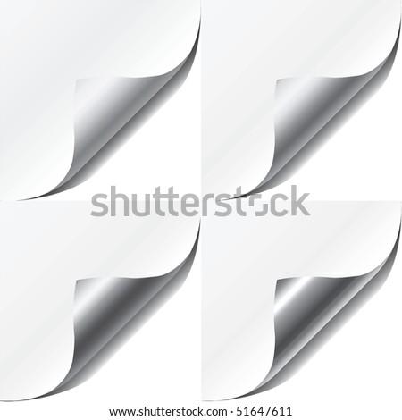 Set vector  page corners - stock vector