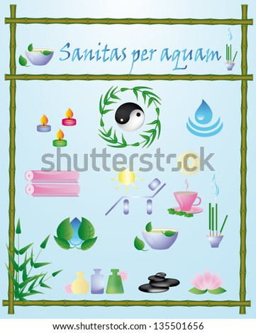 set vector Spa icons