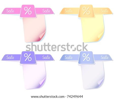 Set vector stickers or label  in pastel colors  for your text