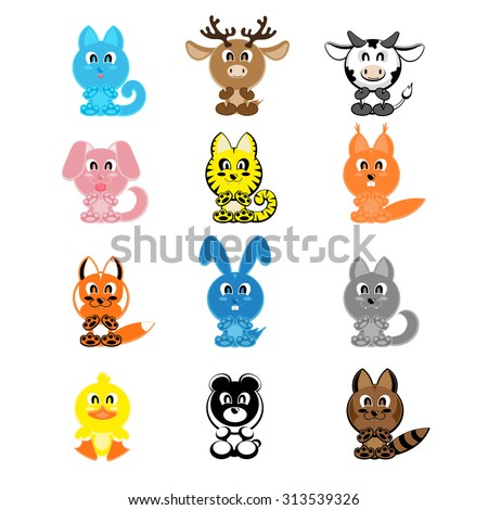 Cute Woodland Animals Pattern Background Stock Vector