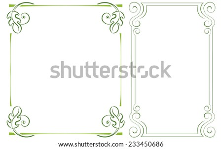 set vector vertical frame. Element for graphic design - stock vector