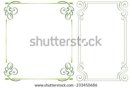 set vector vertical frame. Element for graphic design - stock vector