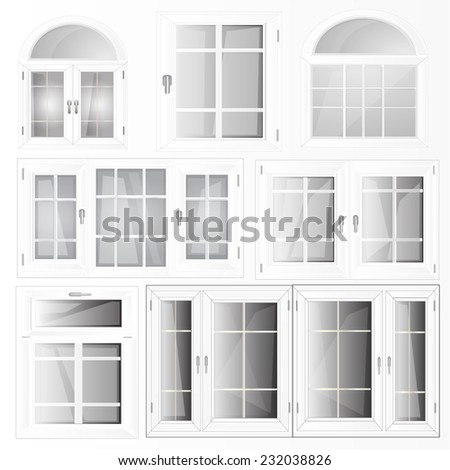 Set Vector Windows - stock vector